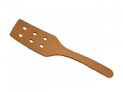 Spatula 2x bended with holes