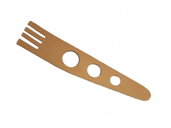 Spagetti spoon with spagetti measure